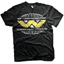 Officially Licensed Retro Men's Aliens Wayland-Yutani Corp Black T-Shirt