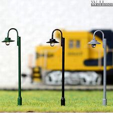 10 x OO / HO gauge Led Street Lights Model Train Lamps Railway Lamp posts #612