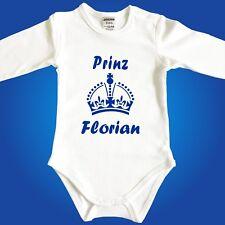 Babybody Baby-Body Prinz / Prinzessin mit Wunschname - Strampler Unterwäsche