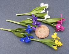 1:12 Handmade Polymer Clay Dolls House Miniature Iris Flowers Garden Accessory