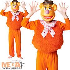 Fozzy Bear The Muppets Boys Fancy Dress Kids Costume Childs Outfit + Mask