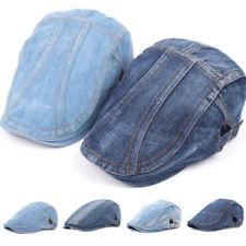 Fashion Jeans Beret Hats for Men Women Casual Unisex Denim Beret Cap Sun Caps