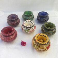 cendrier Marocain gravé anti-fumée décoration Marocaine poterie Orientale