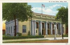 Postcard Ohio OH Niles U.S. Post Office Trumbull County Linen Near Mint 1940s