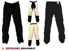 Motorcycle Pants Motorbike Jeans Reinforced Lining Straight Cut Black