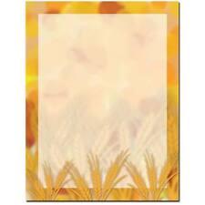 Amber Waves Fall Autumn Letterhead - 25 or 100pk