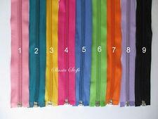 freie Farbwahl 20 Farben 10 x Reißverschluss teilbar 35cm