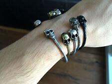 Twin Skull Bracelet Bangle Northskull North Skull, NEW - RRP £30