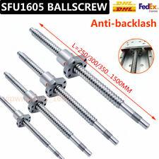 SFU1605 Rolled Ballscrew Ballnut Anti-Backlash 250-1500mm End Machining Coupler
