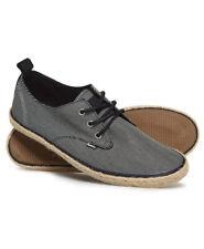 New Mens Superdry Skipper Shoe Black Fine Stripe Ca