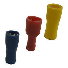 Flachsteckhülsen Flachstecker vollisoliert Rot Blau Gelb in verschiedenen Größen