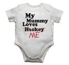 Ma maman m'aime pas hockey-bébé gilets révélateurs bébé pousse imprimé graphique