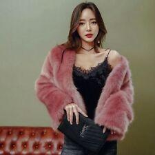 Sexy Women Faux Fox Fur Coat Warm Jacket Girl Outwear Trench Short Ladies Parka
