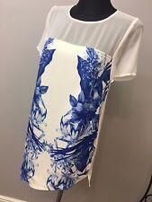 StyleStalker Women's Blue Run Away With Me Print T-shirt Dress size S (AS18/8)