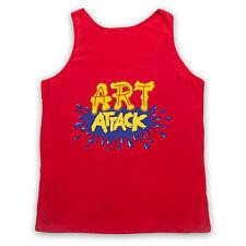 ART ATTACK LOGO UNOFFICIAL CREATIVE KIDS TV RETRO SHOW ADULTS VEST TANK TOP