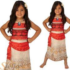 Girls Deluxe Moana Costume Disney Hawaiian Princess Fancy Dress Outfit