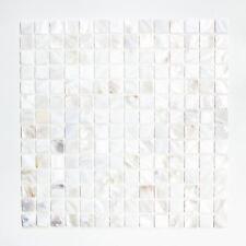 Mosaik Fliese Muschel perlmutt Wandverblender Bad Dusche|150-SM201_f |10Matten