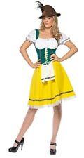 Oktoberfest German Fraulein Costume Yellow/Gr/Wht Ladies Dirndl Style Dress