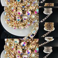 Various Colours Chine Diamante Bridal Applique Crystal Trim Wedding Dresses Belt