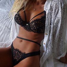 UK Womens Sissy Lace Lingerie Babydoll G-String Thong Underwear Nightwear S-XL