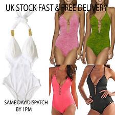 Womens Summer Beach Padded Swimsuit Costume Monokini Swimwear Bikini Push Up UK