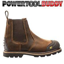 BUCKLER b1990sm BROWN IN PELLE wide-fit Boot Sicurezza & Intersuola K3 suola 6/40-13 / 47