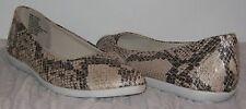 Dana Buchman Faux Snake Skin Flats Size Choices 8.5/9 NEW #SH18