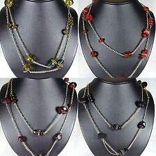 PILGRIM Halskette Kette Halsreife,Schmuck,Perle,Kugel,Rot,Schwarz,Grün,Dunkelrot