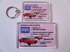 GENERAL LEE CAR DUKES OF HAZZARD Keyring or Fridge Magnet = ideal gift idea !!!
