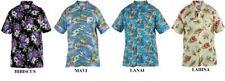 Duke London Hawaiano Manga Corta Estampado Camisas 1xl to 8xl, 4 styles