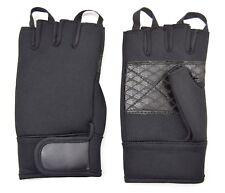 Fingerless Neoprene Gloves Black Cycling Handling Tactical Army Work Glove Sport