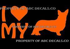 VRS LOVE My Dog CARDIGAN WELSH CORGI Puppy Heart Adoption Rescue CAR VINYL DECAL