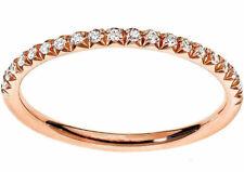 Anello fedina Eternity oro Rosa 18 kt. diamanti naturali ct. 0.20 donna Regalo