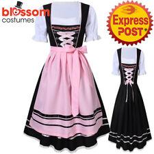 K652 Ladies Oktoberfest Wench Dirndl German Dress Up Bavarian Beer Maid Costume