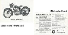 Göricke Gö 175 Prospekt 1954 brochure Goricke Broschüre Motorrad Deutschland