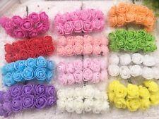 2cm mini foam tea roses x 36 with netting buttonholes corsages wedding flowers