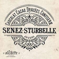 ACQUA Decalcomania Stampa Trasferimento – Vintage Francese etichetta: senez-strubelle CHOCOLATE #053