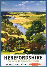 175 vintage chemin de fer Art Poster Herefordshire * free affiches