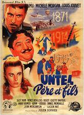 Untel pere et fils Raimu Louis Jouvet movie poster