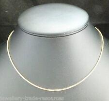 De 9 quilates de oro amarillo Collar Cadena O Colgante Franco 16 pulgadas o 18 pulgadas pulgadas 1,3 mm de ancho