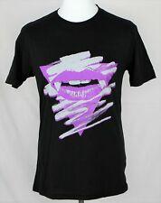 Repsycho   Vampire Lips  Print T-Shirt  80s Design