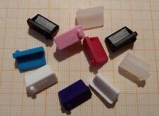 tappi anti polvere per porte usb presa usb 2.0  o 3.0 nero, bianco o colorato