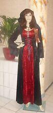 Edel-gótica bruja vestido capucha la edad media LARP terciopelo disfraz hexenkostüm