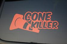Cone Killer Funny Vinyl Sticker Decal (V166) JDM Teen Euro Drift Choose Color!!!
