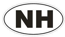 NH New Hampshire EURO OVAL Bumper Sticker or Helmet Sticker D475 Laptop TABLET