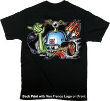 Von Franco Von Helmet PosterPop T-Shirt Pinstripe Hot Wheels Von Dutch Eye S-4XL