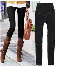 Maternity jeans OverBump Skinny Straight Leg Pregnancy Denim Pants Black blue