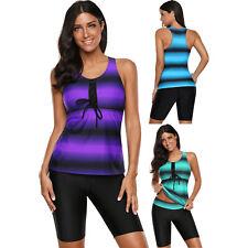 Black ombre print racerback tankini swimsuit summer sets womens swimwear