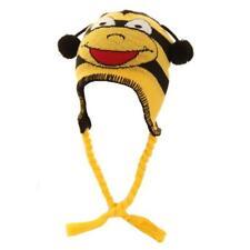Boys Girls Winter Knitted Animal Peru Hat Frog Bee or Ladybird