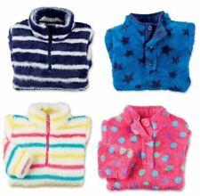 Boys Girls Childrens Fleece Top Thermal Top Plush Cosy Jumper Zip Top Sweatshirt